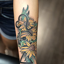 infinite,electric,tattoo,shop,dennis,pase,american,traditional,japanese,energy,skeleton,floral,rose,flowers,